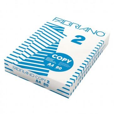 Carta A4 Fabriano Copy 2 - 80 g/mq 500 fogli per fotocopie e stampe digitali