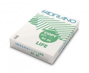 Carta A4 Fabriano Copy Life Riciclata 80 g/mq 500 fogli per fotocopie e stampe digitali