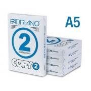 Carta A5 Fabriano Copy 2 - 80 g/mq 500 fogli - Confezione 10 Risme